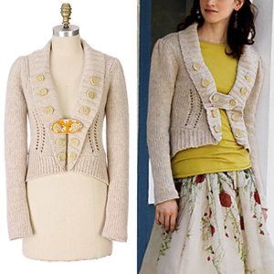 Anthropologie Charlie Robin Parade Route Cardigan